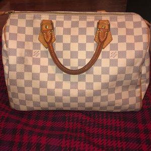 Authentic Louis Vuitton Damier Azur Speedy 30